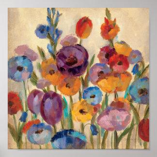 Ramo de flores coloridas póster