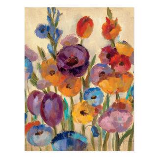 Ramo de flores coloridas postal