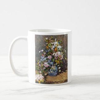 Ramo de flores de la primavera taza