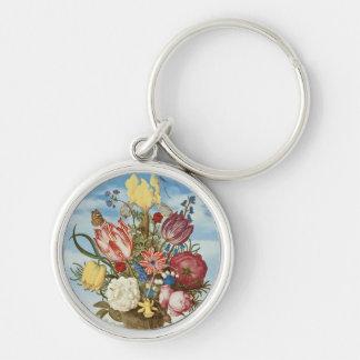 Ramo de flores en una repisa llaveros personalizados