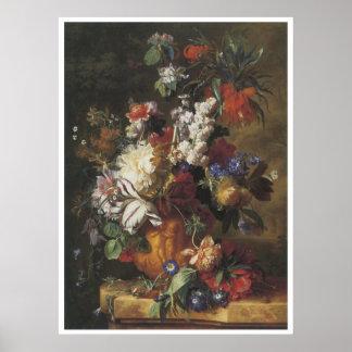 Ramo de flores en una urna, 1724 poster