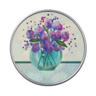 ramo de flores frascos de caramelos