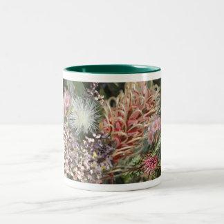 Ramo de flores nativas australianas taza de café