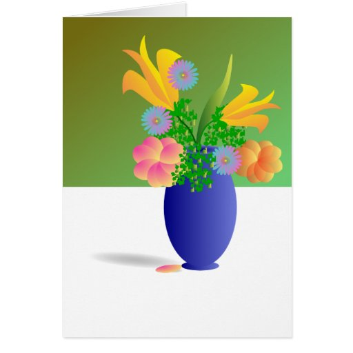 Ramo de flores tarjeta de felicitación