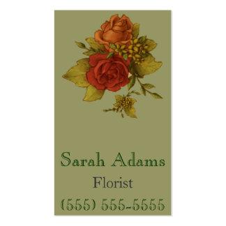 Ramo de flores tarjetas de visita