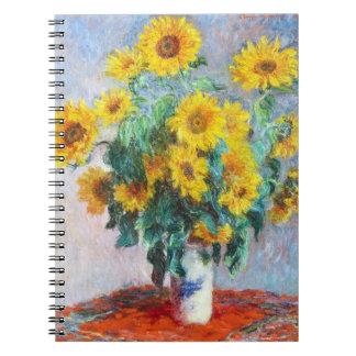 Ramo de girasoles, Claude Monet 1880 Cuaderno