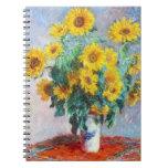 Ramo de girasoles, Claude Monet 1880 Libretas