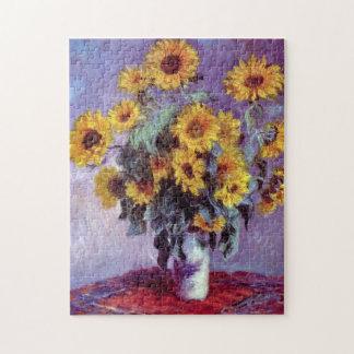 Ramo de girasoles de Claude Monet, arte del Puzzles Con Fotos