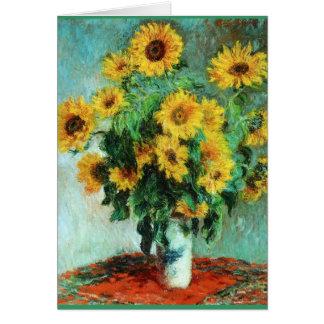 Ramo de girasoles de Claude Monet