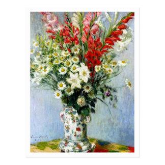 Ramo de Gladiolas de Claude Monet Tarjeta Postal