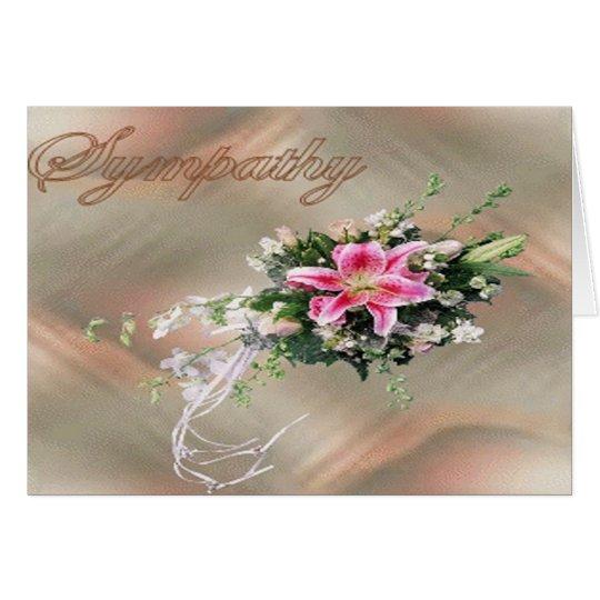 Ramo de la condolencia tarjeta de felicitación