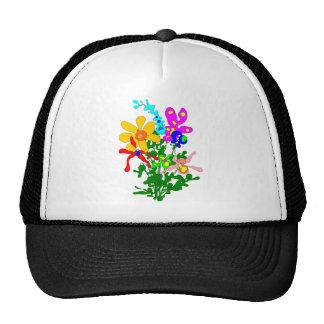 Ramo de la flor colores brillantes orquídeas gorra
