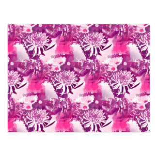 Ramo de la flor de las rosas fuertes en collage tarjeta postal
