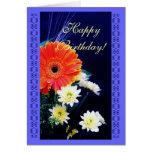 Ramo de la flor del cumpleaños felicitaciones