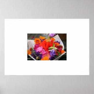 Ramo de la flor del mercado de lugar de Pike Póster