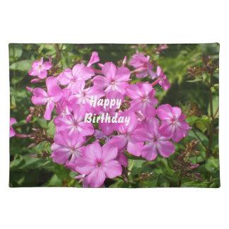Ramo de la flor del rosa del feliz cumpleaños manteles