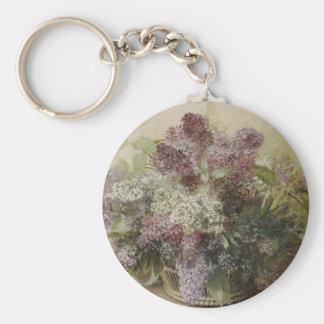 Ramo de la flor del vintage llaveros personalizados