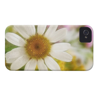 Ramo de la flor - margarita blanca iPhone 4 carcasas