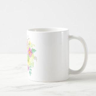 Ramo de la margarita de la acuarela taza clásica