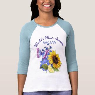 Ramo de la mariposa para la mamá camiseta