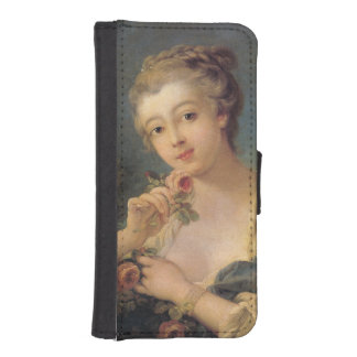 Ramo de la mujer joven de rosas de Francois Billeteras Para Teléfono