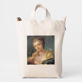 Ramo de la mujer joven de rosas de Francois Bolsa De Lona Duck