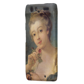 Ramo de la mujer joven de rosas de Francois Bouche Droid RAZR Fundas