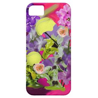 Ramo de las orquídeas con las pelotas de tenis iPhone 5 funda
