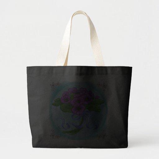 Ramo de las violetas bolsa tela grande