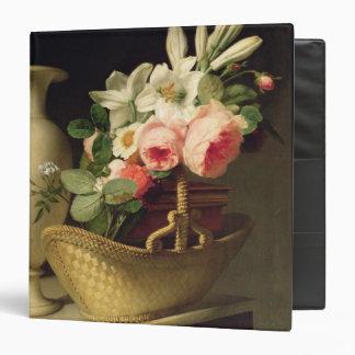 """Ramo de lirios y de rosas en una cesta, 1814 carpeta 1 1/2"""""""