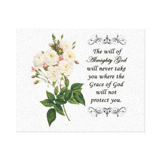 Ramo de lona hermosa de los rosas blancos impresiones de lienzo