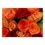 Ramo de los rosas de Swirly Tarjeton