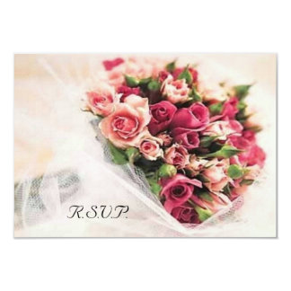 """Ramo de los rosas que casa RSVP Invitación 3.5"""" X 5"""""""