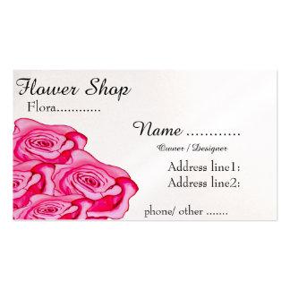 Ramo de los rosas tarjetas de visita