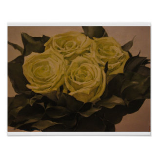 Ramo de los rosas verdes impresiones