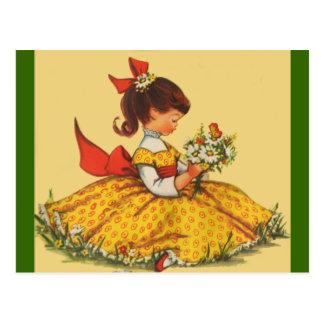 Ramo de margaritas tarjetas postales