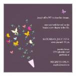 Ramo de mariposas - invitación del fiesta de invitación 13,3 cm x 13,3cm
