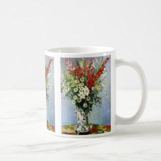 Ramo de MONET de taza de café de Gladiolas