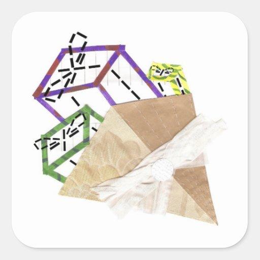 Ramo de pegatinas de los presentes pegatinas cuadradases