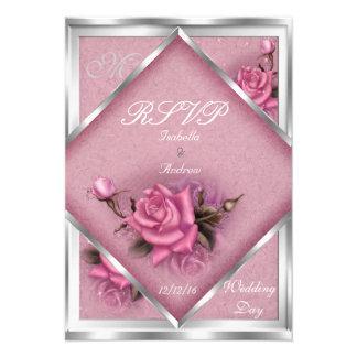 Ramo de plata subió rosa elegante del boda de RSVP