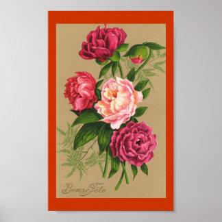 Ramo de poster de los rosas