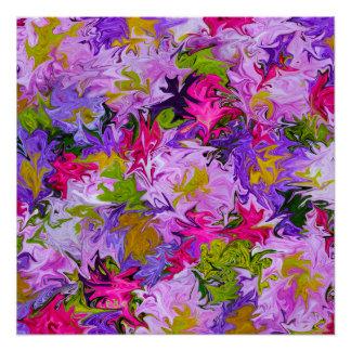 Ramo de poster del arte abstracto de los colores perfect poster