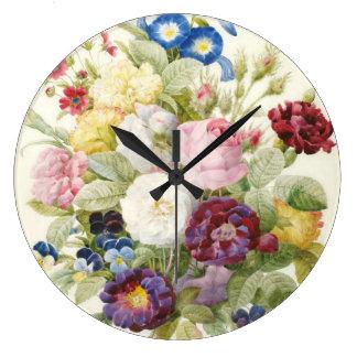 Ramo de Redoute de reloj de pared de las flores