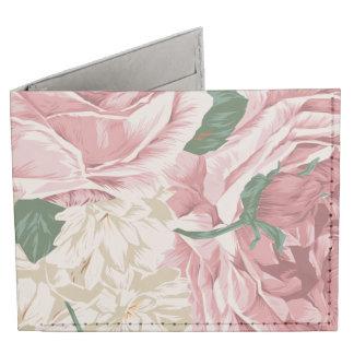Ramo de rosas blancos y rosados billeteras tyvek®