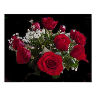 Ramo de rosas poster