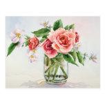 Ramo de rosas postal