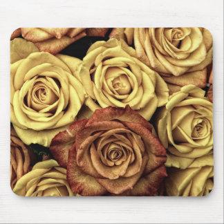Ramo de rosas rojos y blancos en la plena floració tapetes de ratón