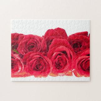Ramo de rosas rosados brillantes puzzle