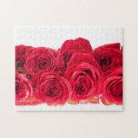 Ramo de rosas rosados brillantes rompecabezas