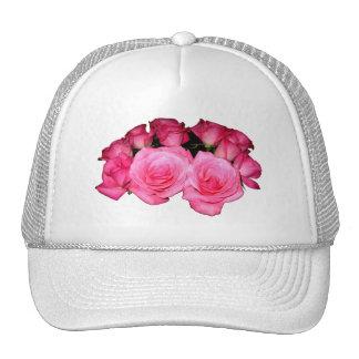 Ramo de rosas rosados gorros